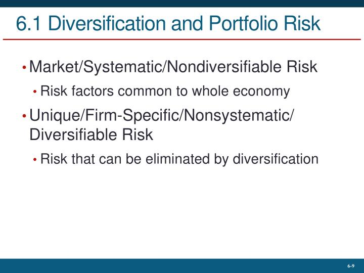 6.1 Diversification and Portfolio Risk
