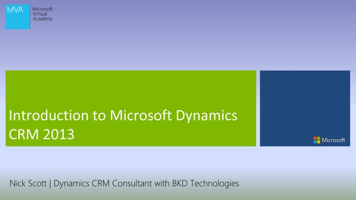 introduction to microsoft dynamics crm 2013 n.