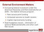 external environment matters