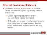 external environment matters1