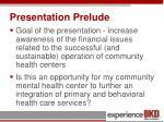 presentation prelude