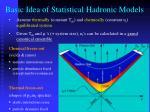 basic idea of statistical hadronic models