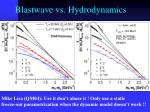 blastwave vs hydrodynamics