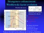 strangeness enhancement wroblewski factor evolution