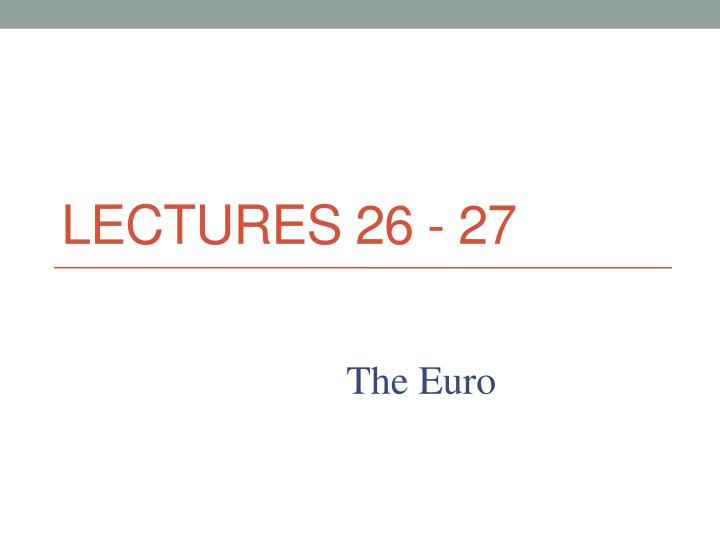 lectures 26 27 n.