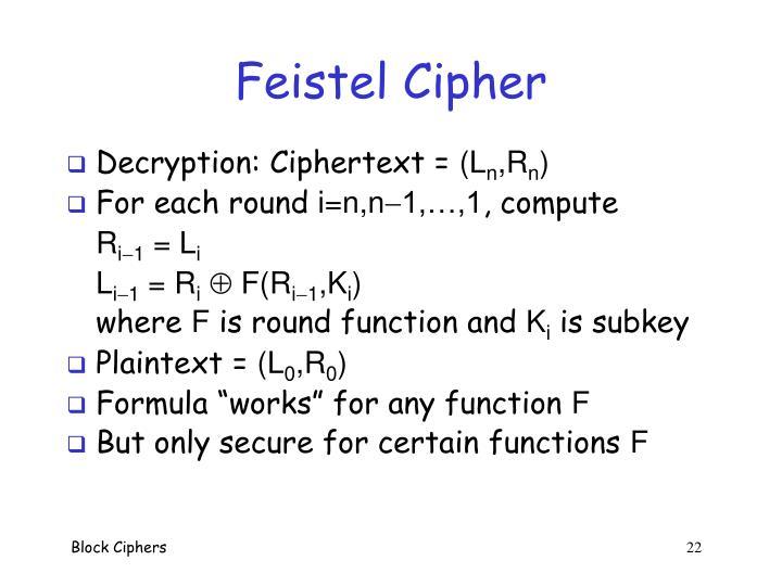 Feistel Cipher