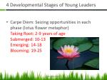 4 developmental stages of young leaders