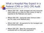what a hospital may expect in a federal cms or oig cpe audit