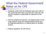 what the federal government relies on for cpe
