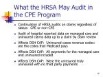 what the hrsa may audit in the cpe program