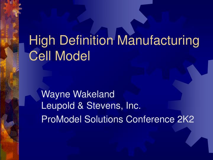 high definition manufacturing cell model n.
