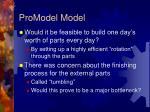 promodel model