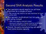 second shift analysis results