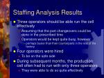 staffing analysis results
