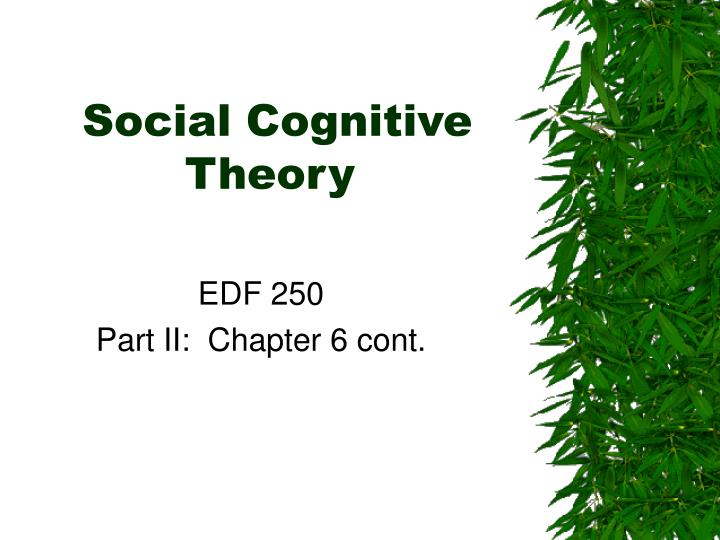 social cognitive theory n.