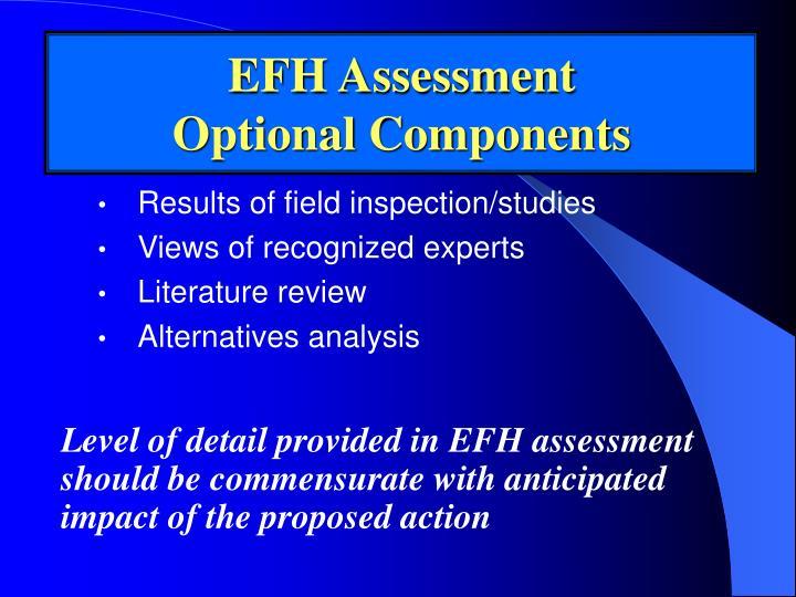 EFH Assessment