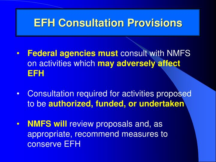 EFH Consultation Provisions