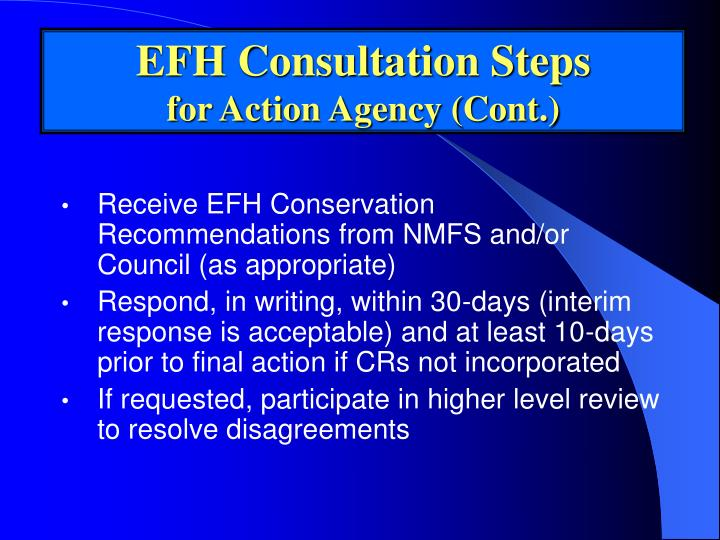 EFH Consultation Steps