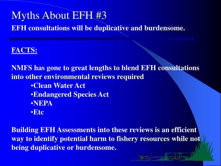 Myths About EFH #3