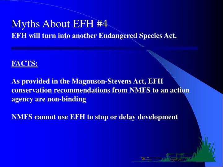 Myths About EFH #4