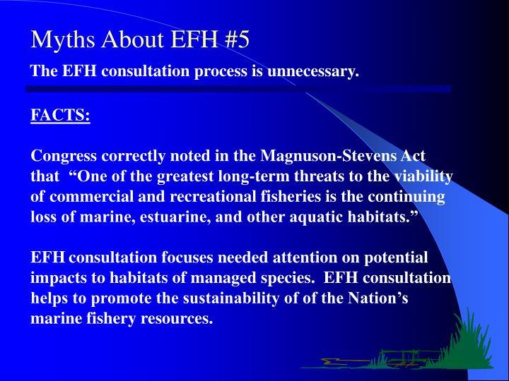 Myths About EFH #5