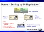 demo setting up pi replication
