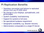 pi replication benefits