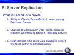 pi server replication