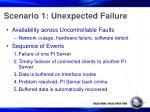 scenario 1 unexpected failure