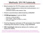 methods efv pk substudy