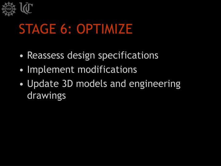 STAGE 6: OPTIMIZE