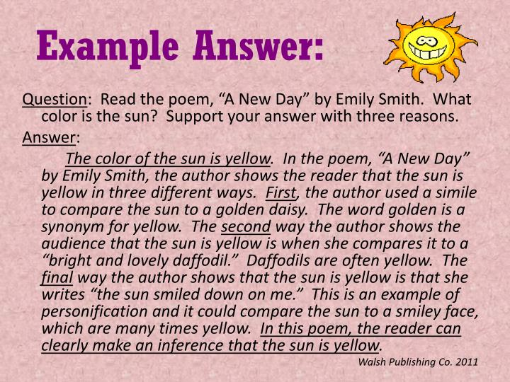 Example Answer: