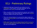 ecj preliminary rulings