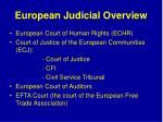 european judicial overview
