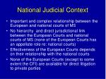 national judicial context