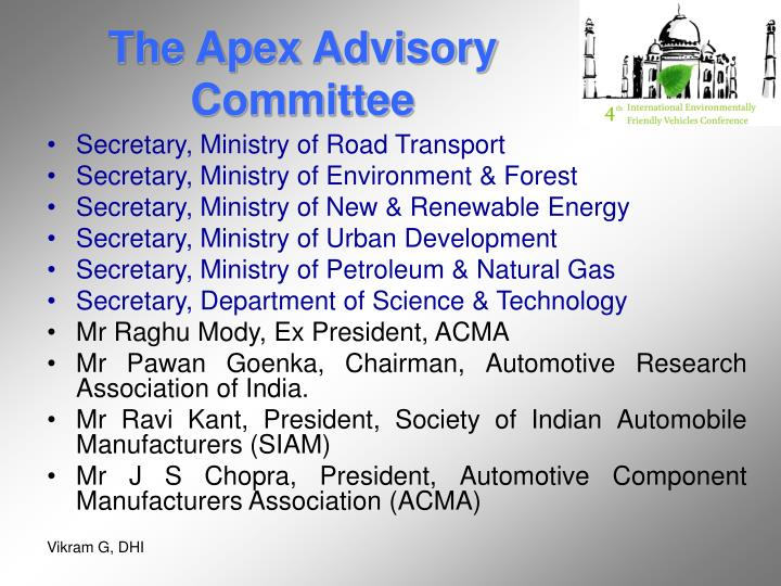 The Apex Advisory Committee