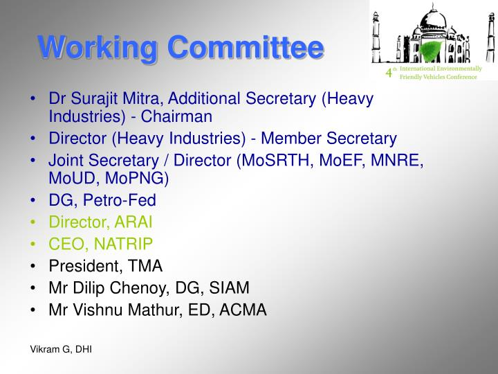 Working Committee