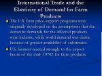 international trade and the elasticity of demand for farm products