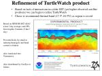 refinement of turtlewatch product