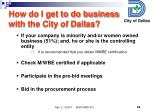 how do i get to do business with the city of dallas1