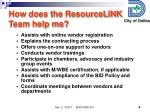 how does the resourcelink team help me
