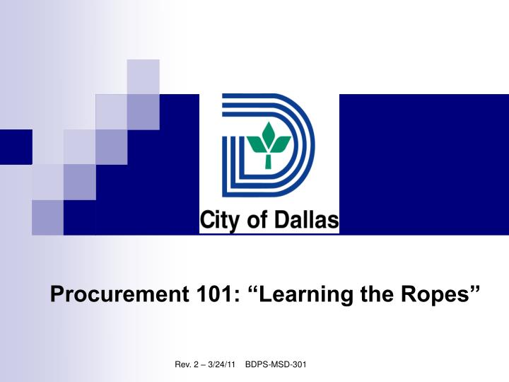 procurement 101 learning the ropes n.
