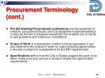 procurement terminology cont1