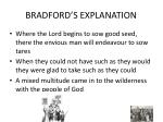 bradford s explanation