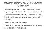 william bradford of plymouth plantation