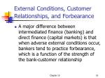 external conditions customer relationships and forbearance