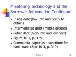 monitoring technology and the borrower information continuum