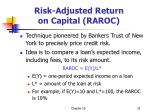 risk adjusted return on capital raroc