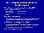 ddt dumping surrounding santa catalina island