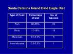 santa catalina island bald eagle diet